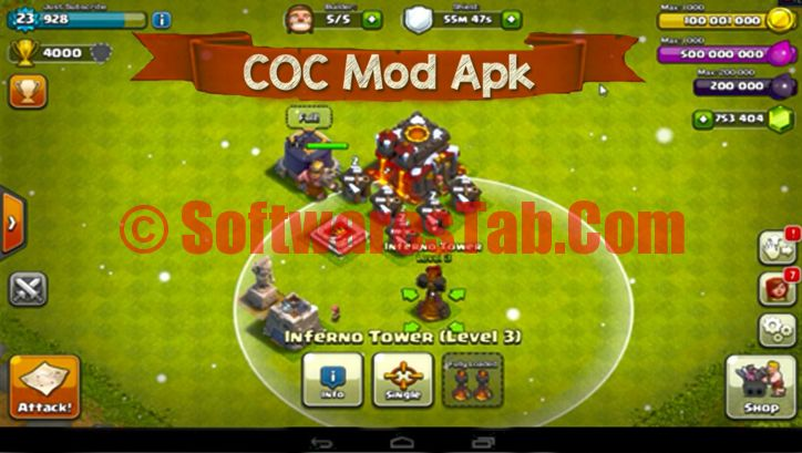 Latest Version of Clash Of Clans MOD APK 2016 – COC Hack Free Download The latest form of the sport Clash of Clans Mod Limitless Money Android.