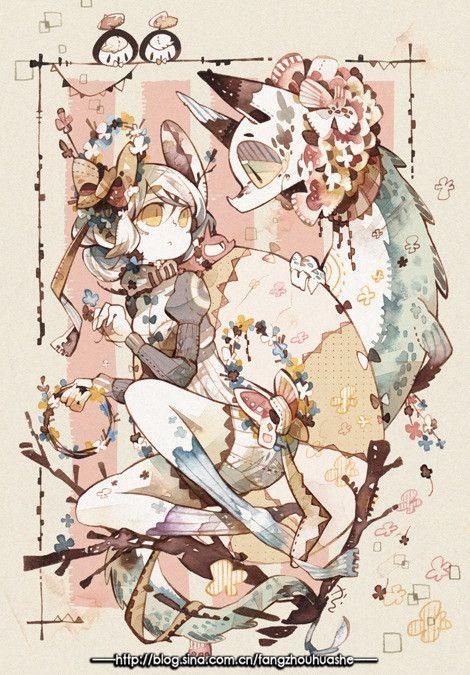日本——画师からし的手绘水彩插画作品