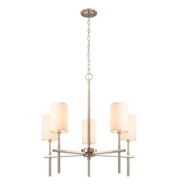 hampton bay remington collection 5light brushed nickel chandelier