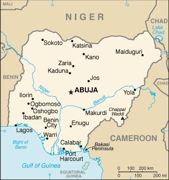 Country Maps: Map of Nigeria