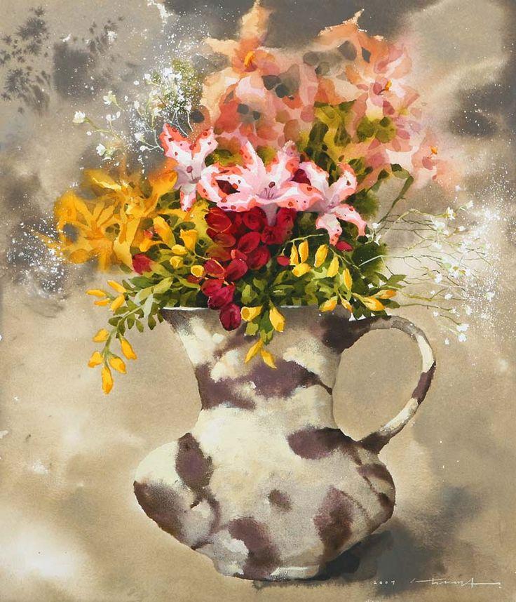 Оригинальные акварели Namtaeksu   Art and Soul Project