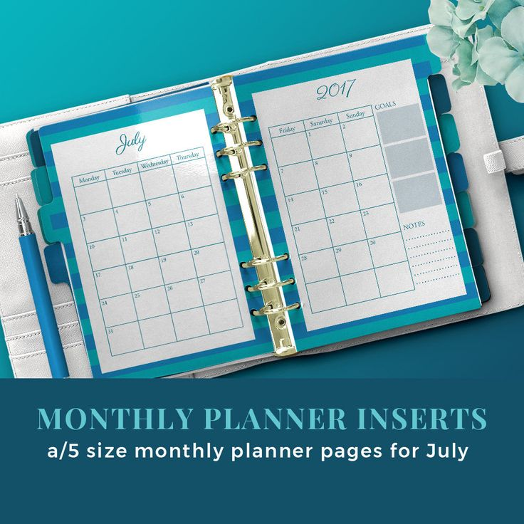 Monthly planner inserts / blog planner inserts / monthly planner printable / monthly organizer /July printable planner kit by JKBlogBrand on Etsy