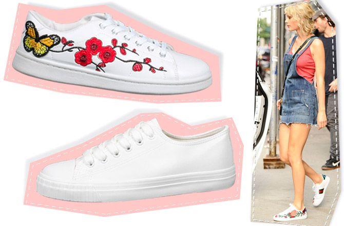 Πως συνδύασαν τα white sneakers τους οι διάσημες fashionistas (3+1 looks for less)