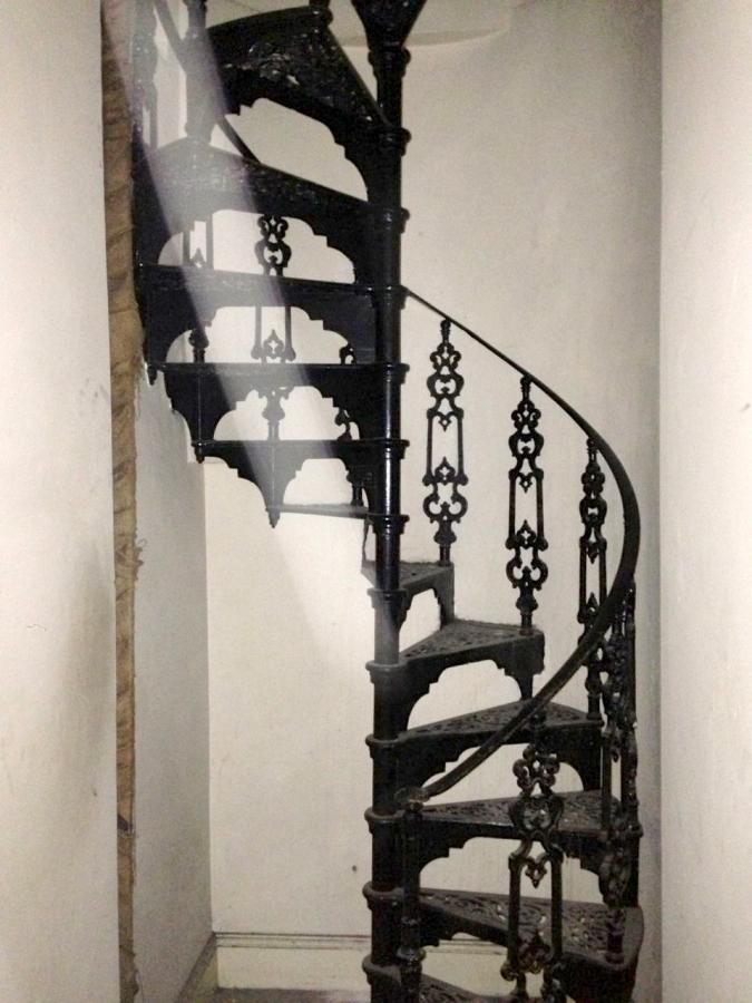 Antique cast iron spiral staircase for sale on SalvoWEB from Architectural Forum in London [ Salvo code dealer