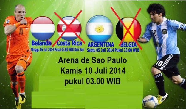 Prediksi Skor Babak Semi-Final FIFA World Cup 2014 : Netherlands vs Argentina
