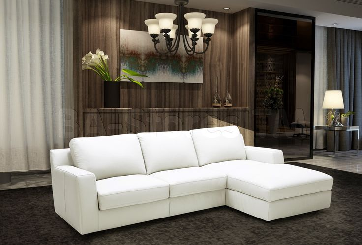 Alexis Sectional Sleeper in White by J&M