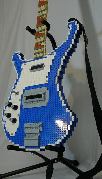 Make cool art for a boys room with legos!! Lego Rickenbacker - left handed