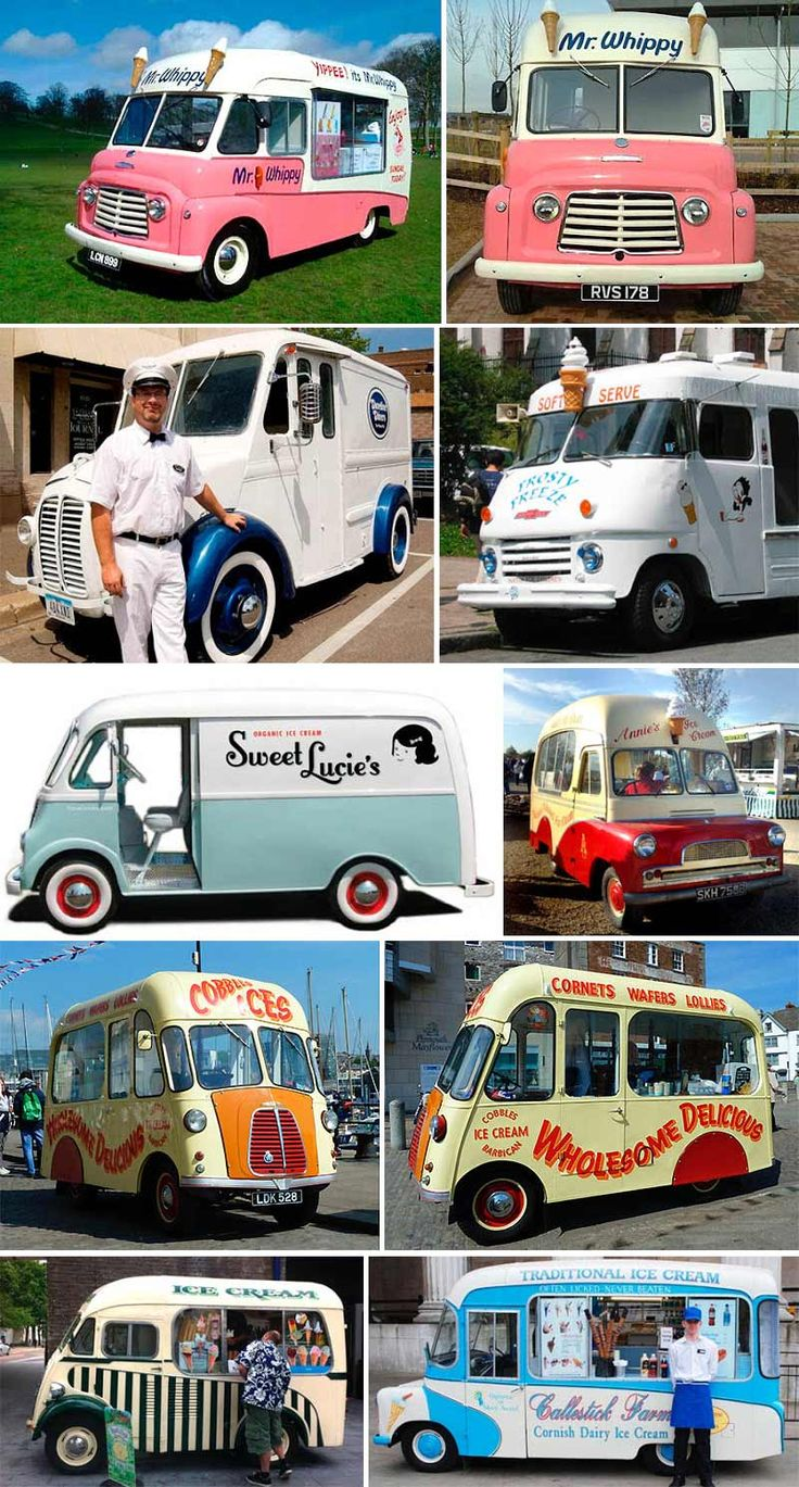 Vintage British Ice Cream Trucks...oh how I would love to own one
