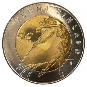 moneda Finlandia 5 Euros 2005 (Atletismo), Tienda Numismatica y Filatelia Lopez, compra venta de monedas oro y plata, sellos españa, accesorios Leuchtturm
