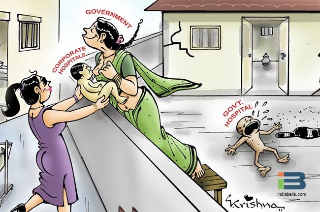 Government Hospital Cartoon. #India