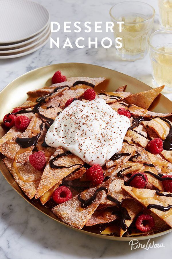 Ladies and gentleman, a quick introduction. Please meet dessert nachos. Yes, you read that right: Dessert Nachos! You already love starting a meal with the savoury kind, so why not end a meal with a plateful of this sweet version?!
