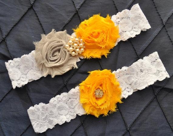Wedding Garter Bridal Garter Set  White by somethingnewdesigns, $22.00  As Belt