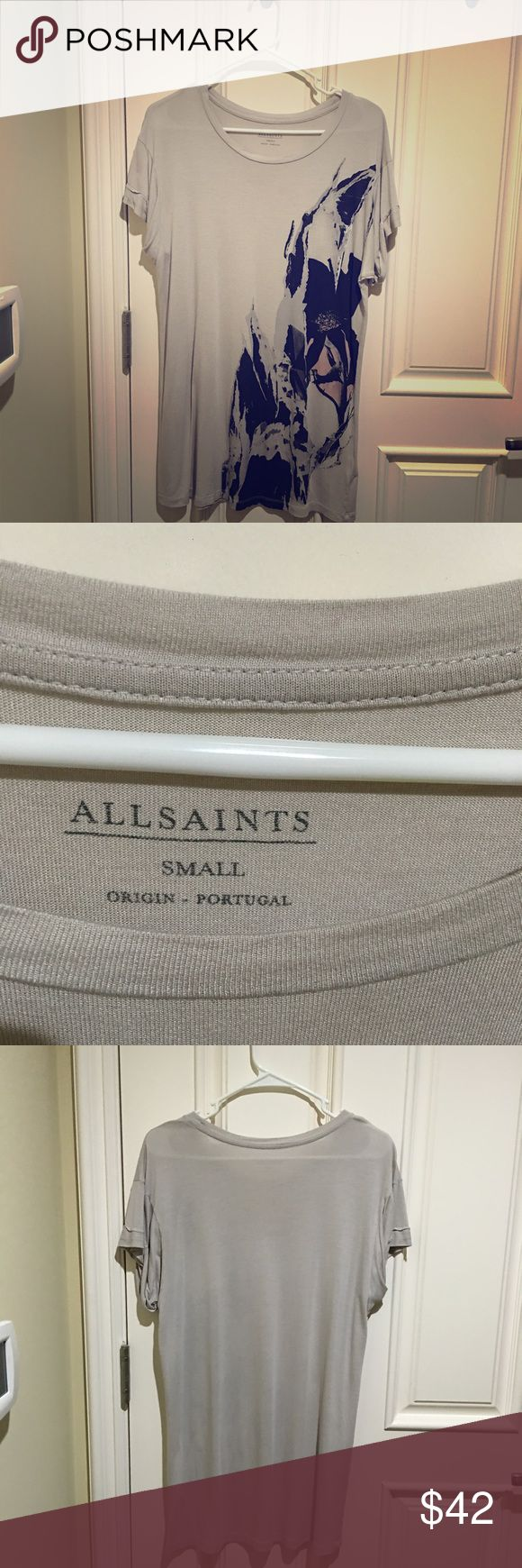 Allsaints T-shirt Fashion design and graphics, good for shorts and boots. Allsaints Tops Tees - Short Sleeve