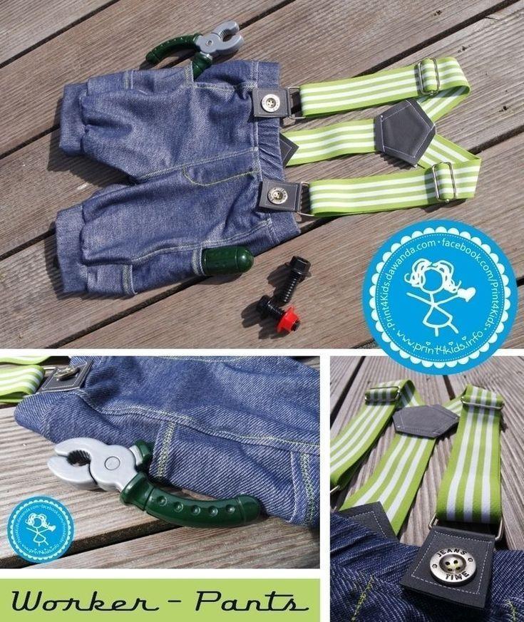 #AutoundMädchen-Worker-Pants für Jungs und Mädchen Schnittmuster und EBook