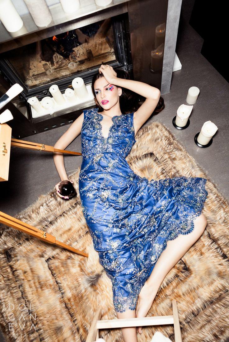 Платье шелк / кружево расшитое бисером. Dress silk / lace beaded.