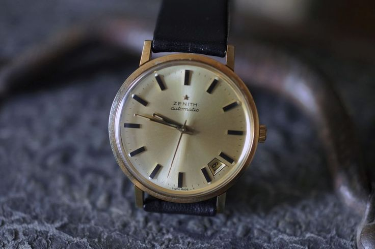 Zenith Automatic with Date and Seconds Vintage Wristwatch #Zenith #Vintage