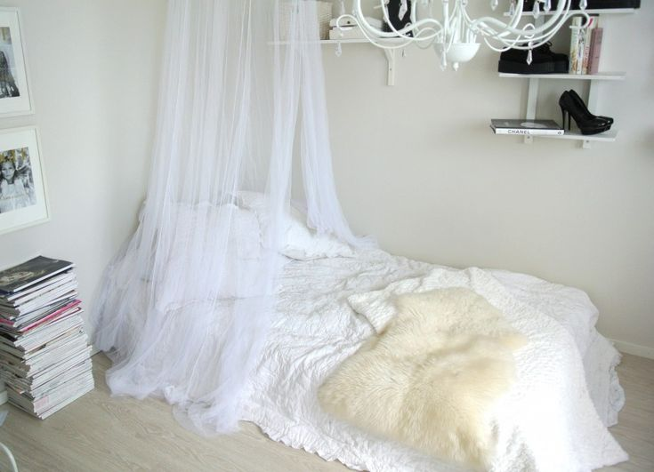 Bed Canopy No Nails : Ideas about mosquito net canopy on