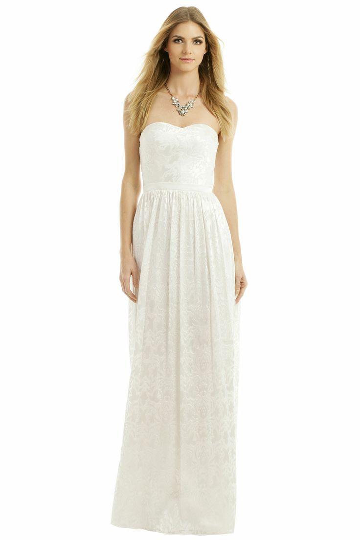 inspired dress the part wedding dress for rent ERIN erin fetherston Sunset Beach Walk Gown