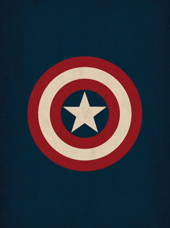 "Marvel Comic Store Superheroes Minimalist ""Captain America"" Art Poster - Retro Style Home Decor Wall Art DC Universe"