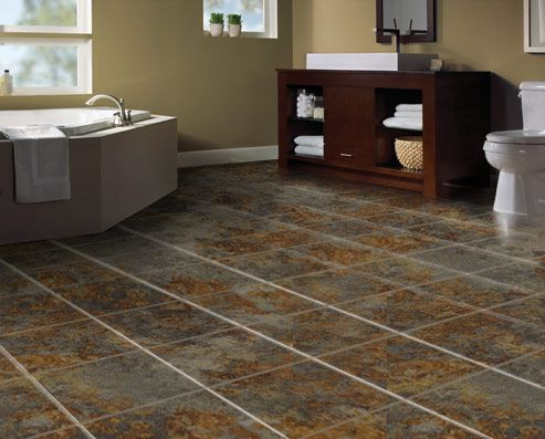 Superb SnapStone Floating Porcelain Tiles   Future Bathroom Floor (Moss Tile With  Bark Grout)