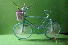 DIY como hacer una bicicleta reciclando pajitas de refresco