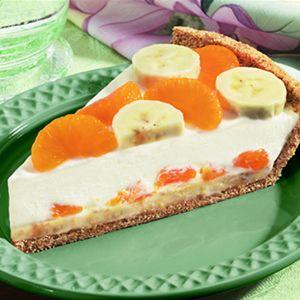 Banana Mandarin Cream Cheese Pie...mmmm...suena exótico y delicioso.