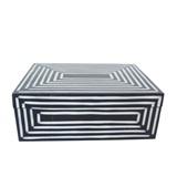 BOX13199 Black & White Resin Box 20cm