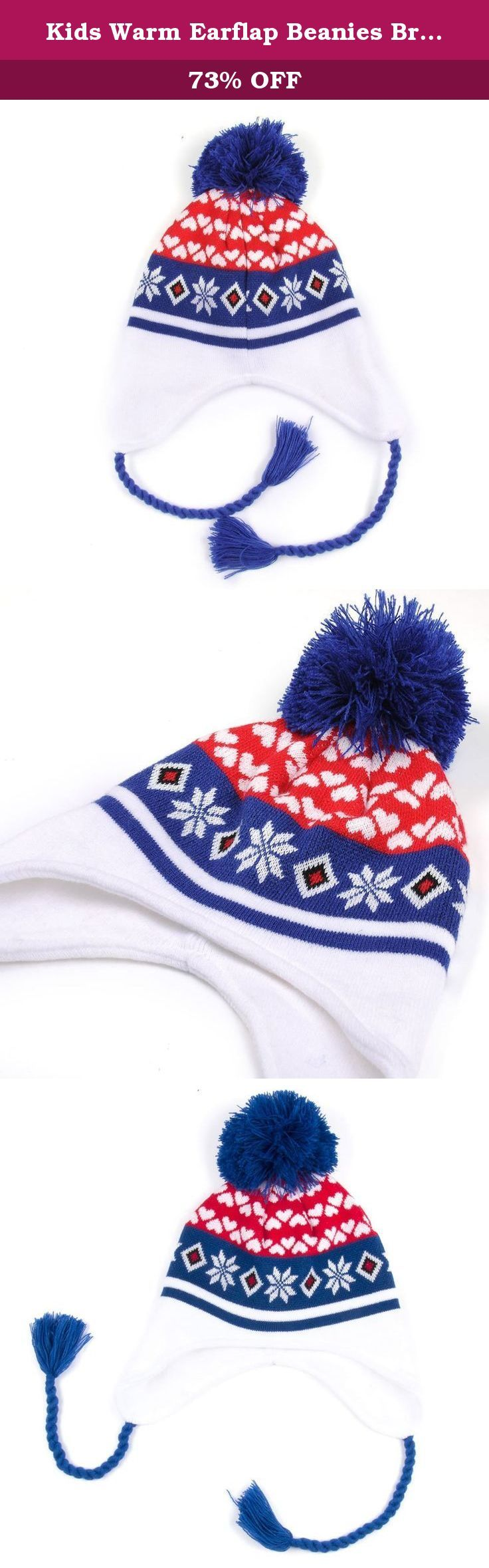 Kids Warm Earflap Beanies Braid Ear Cover Girl boy Daily Soft Knit Hat Cute- Best for Sports and Outdoors, skateboard, Ski, Game, - Keep Dry and Comfortable ... (Blue-b). This Kids beanie size: 9.5 in(L)*7.0 in(H), One size fit most boy and girl head (6 1/2# - 6 3/4#), Hat weight is 0.2 lb This beanie is manufactured by high quality 100% Acrylic outer Which makes it light weight and adorable to use, the benefit of the beanie earflap which keep out the wind cute adorable knit beanie to…