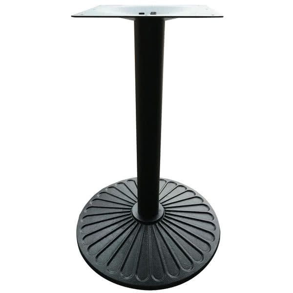 Art Marble Furniture Z14 22d 21 1 2 Round Black Cast Iron Standard Height Table Base Table Base Marble Furniture Restaurant Table Bases