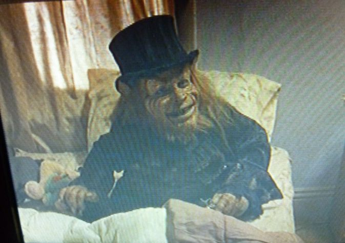 come to bed my sweet. leprechaun 6 . the leprechaun played by warwick davis. this is a lep  movie pic from leprechaun back to tha hood. its one of my many pic of the leprechaun. I have a board for each of the 6 movies so come by and have a look