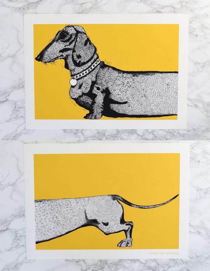 Sausage Dog Art Print Set