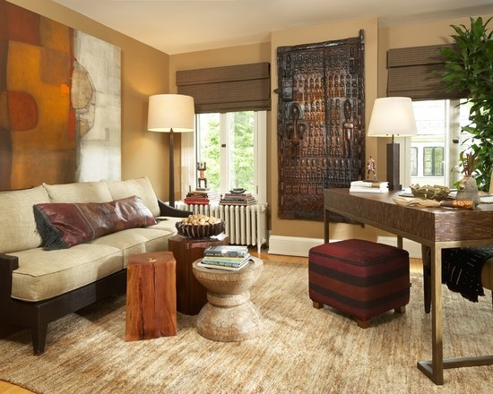 How To Incorporate Different Elements From Various Travels Ethnic Living Room Design Pictures