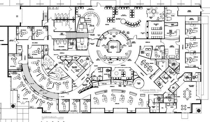 Dental Office Floor Plans, Orthodontic and Pediatric in