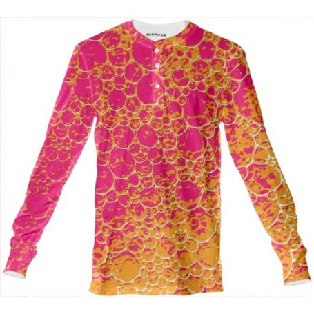 Shop Funky Dinosaur HEAT Henley Shirt by GrandeDuc | Print All Over Me