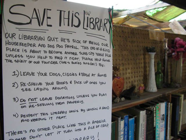 Save The Slab City Library Niland CA