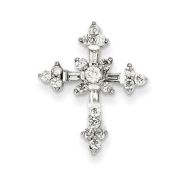 1/2 Carat Diamond Flower Passion Cross Necklace ($799) found on Polyvore featuring women's fashion, jewelry, necklaces, flower jewellery, blossom necklace, diamond cross necklace, flower jewelry and crucifix jewelry
