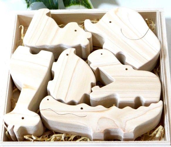 動物の積み木⭐︎オリジナル木箱入り おもちゃ・人形 木工房U-m ハンドメイド通販・販売のCreema
