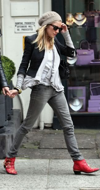 Sienna Miller+enviable Chloe boots.