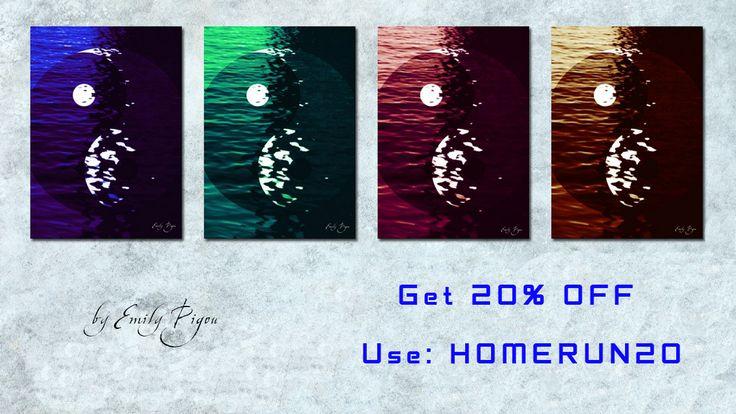 Yin Yang Posters & Gifts 20% OFF!! Use code: HOMERUN20.  by Emily Pigou. #yinyang #yinyangposter  #sales #save #discount #posters #yoga #gifts #giftsforher #homegifts #giftsforhim #yinyanggifts #home #yogagifts #canvasprint #yinyangcanvasprint