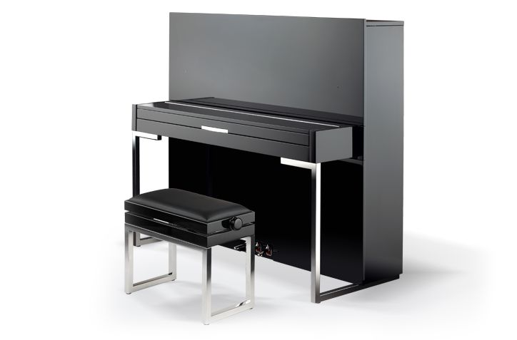 I would love a Petrof baby grand, but for a modern home this is cool!