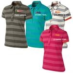 Nike Golf | Ladies Golf Shirts | Dri Fit Stripe Graphic Polo