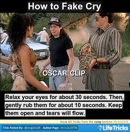how to cry on demand acting