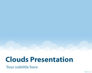 Cloud PowerPoint template is a free template that you can use for elegant PPT templates and modern presentations