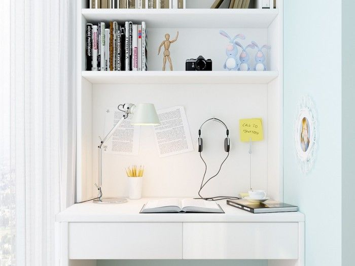 Wonderful work at home idea furniture Office white lamp