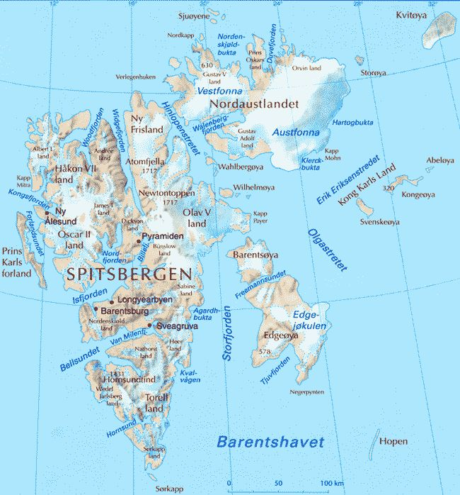 Svalbard - Map sharing - All States maps