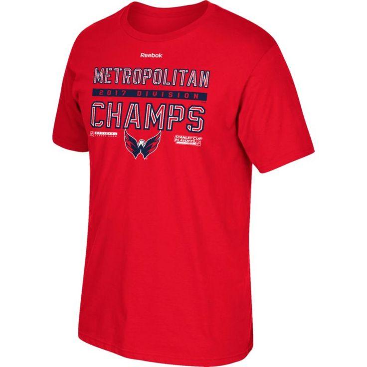 Reebok Men's 2017 NHL Stanley Cup Playoffs Metropolitan Division Champion Washington Capitals Red T-Shirt