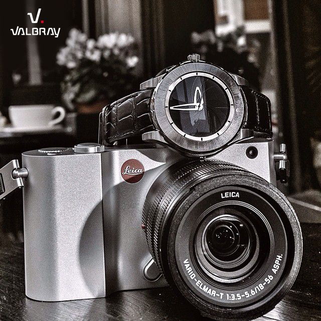 "One of our Oculus Chrono together with a #leica camera. Hommage to our collaboration ""Valbray for Leica"" - to be discovered here http://en.leica-camera.com/World-of-Leica/Leica-News/About-Leica-News/Global/Valbray-and-Leica-present-unique-chronographs"