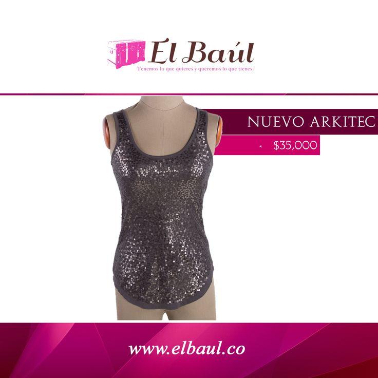 Arkitec gris con lentejuelas Viscosa NUEVO $35,000  http://elbaul.co/Productos/1591/Arkitec-gris-con-lentejuelas-Viscosa-NUEVO-
