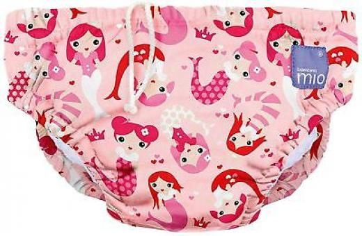 Bambino Mio Reusable Swim Nappy Mermaid Pink Baby/toddler Swimming Diaper Bn Female Cn Multi-coloured Mixed Material 0m+