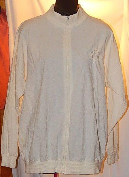 SK Sport Womens Cotton Zip-Front Golf Jacket Size L Off White #SKSport #CoatsJackets